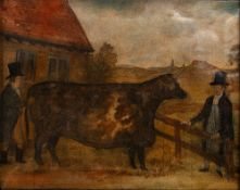 Attributed to Nathaniel Dawson (19th Century, British School) 'Butcher buying the great Farnley