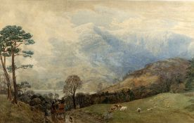 Charles Branwhite (1817-1880) 'The Ambleside to Coniston coach' watercolour, 40cm x 64cm Provenance: