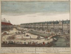 George Balthasar Probst (1732-1801) Three coloured engravings, ''Prospectus...Mercatorum