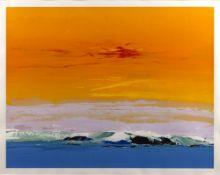 Donald Hamilton Fraser (1929-2009) 'Seaside Composition - Sunrise' screenprint, 233/250, signed in