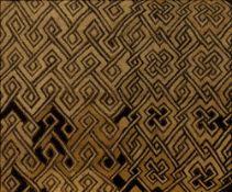 Kuba Cloth 20th Century, raffia weave with embroidered fabric, 36cm x 43cm