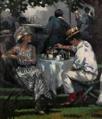 Sherree Valentine Daines (b.1959) 'Afternoon tea' limited edition canvas print, numbered 36/195,