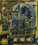 Pablo Picasso (1881-1973) 'L'Atelier, Les Pigeons, Velazquez' print, unsigned, 53.5cm x 45cm