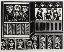 Attributed to Edward Bawden (1903-1989) 'So they led La Beale Isoud thither as she should stand