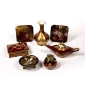 Carltonware Rouge Royale Collection of pieces to include 'Mikado' patterned vase, with early W & R