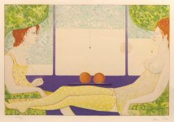 Leonor Fini (1907-1996) 'Two oranges' lithograph, signed and numbered in pencil 204/250 lower right,