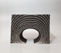 Gillian Montegrande (b.1960) 'Tellin' stoneware, signed to the base, 27cm x 20cm x 9cm