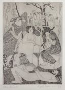Iona Doniach (b.1938) 'Eight sugar mice', etching, signed and numbered 4/25 in pencil lower right,