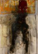Henry Jackson (b.1961) 'Untitled, No. 40' mixed media on ragcoat, signed lower right, 101cm x 71cm