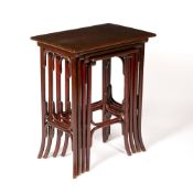 In the manner of Michael Thonet (1796-1871) for Gebrüder Thonet of Vienna nest of four bentwood