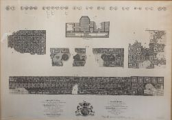 After John Lens Monochrome large engraving 'Pavimentum hoc Tesselatum', engraved by J Colein, 54cm x