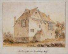 Three 19th/20th Century watercolours including 'Hadlow Place near Tunbridge Kent, 19cm x 23cm, a