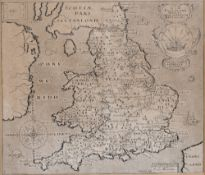 Christopher Saxton and William Hole Englalond Anglia Anglosaxonum Heptarchia, map, published