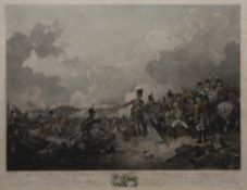 Philipp Jakob de Loutherbourg (1740-1812) Coloured engraving 'The Battle of Alexandria' published,