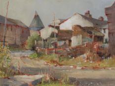 Stanley J Banner (b.1916) 'Herefordshire farmstead' watercolour, signed lower left, 33cm x 43cm