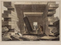 After Luigi Mayer(1755-1803) Aquatint 'Interior of the Temple of Jupiter Ammon' from Views in the