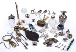Collection of silver, white metal and silver plated wares to include: Dutch white metal table
