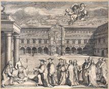 After Benjamin Cole (1725-1813) Antiquarian map of 'Broad Street Ward' and Corn Hill Ward' London,