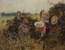 Late 19th Century English School 'untitled' oil on canvas, signed indistinctly lower left in gold