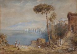 Andrea Vasari (1873-1961) Pair of watercolour studies of North Italian lakes, each signed lower