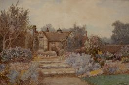 James Matthews (19th/20th Century) At Tillington, Sussex, watercolour, signed and inscribed, 34cm