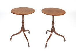 Pair of mahogany oval wine tables Georgian style on tripod supports, 42cm x 32cm x 58.5cm Condition:
