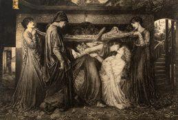 Palais du Papes, Avignon, Provence monochrome photograph, a pre-Raphaelite print 39cm x 59cm,