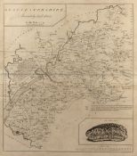 Map of Gloucestershire by J Bayly, 1779, marking the Cotham Stone 41cm x 36cm Condition: creasing