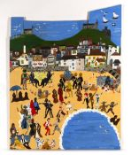 Jenny Birchall (Contemporary) A long time ago at a Beach Party far far away.... signed and titled (