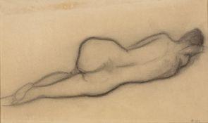 Modern British School Nude study monogrammed DW and dated 1957 inscribed 'David Wynne, Macalpine