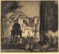 Frank Brangwyn (1867-1956) Santa Sophia, Constantinople, 1906 signed in pencil (lower right) etching