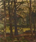 Mavis Blackburn (b.1923) The Edge of the Wood signed oil on canvas 40 x 35cm. Minor surface wear