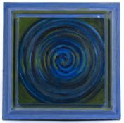 Yankel Feather (1920-2009) Blue Spiral, 1999 signed, dated, and titled (to reverse) oil on canvas 30
