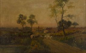 Jack Ducker (act.1910-1930) 'Hazlemere Farm, Surrey - Sleepy Hollow', 1926 signed, inscribed with