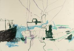 Sadie Tierney (b.1971) Abstract signed and numbered 3/6 in pencil drypoint and mixed media 62 x