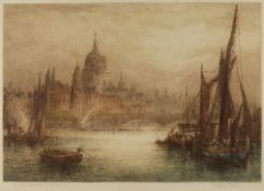 JAMES ALPHEGE BREWER (act. 1909-c.1938) St Paul's Cathedral (early morning), signed and inscribed in