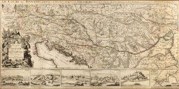 NICOLAS SARSON D'ABBEVILLE 'Le Cours du Danube depuis Sa Source Jusqu'a ses Embouchures........',