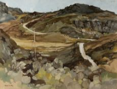 MOIRA HUNTLY (b.1932) 'Near Fanagmore, Sutherland', signed, gouache, 48 x 62cm With the John