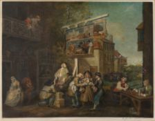 EDWARD JACKSON STODART AFTER WILLIAM HOGARTH 'Canvassing for Votes', 'Chairing the Members' and '