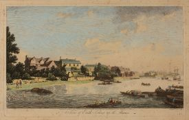 JOHN BOYDELL (pubs) 'A View of Erith Looking up the Thames', etching, hand-coloured, 20.5 x 43cm;