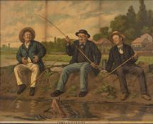 FISHING INTEREST: Three Jolly Anglers', a pair, chromolithographs, 30 x 38cm (2)