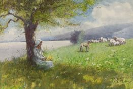 HUTTON MITCHELL (1872-1939) Tranquility, signed, watercolour, 36.5 x 54cm