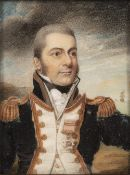 CHARLOTTE THICKE (BRITISH, FL.1802-1846) A Naval Captain, wearing full-dress uniform, blue coat with