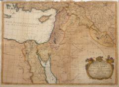 JOHN BLAIR 'Palestinae Seu Terrae Promissionis', engraving with decorative title cartouche, hand-
