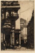 RANDOLPH SCHWABE (1885-1948) 'No.14 Regent Street', etching, pencil signed in the margin and titled,