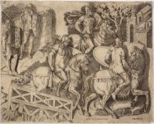 ANTONIO DE SALAMANCA 'Retato de le Colona di Roma', from Speculum Romanae Magnificentiae, etching,