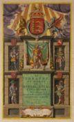 JEAN BLAEU 'Le Theatre du Monde ou Nouvel Atlas D'Angleterre', title page, engraving, hand-coloured,