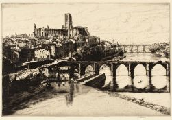 DOUGLAS ION SMART (1879-1970) 'Albe' and 'Angers', two etchings, each signed in pencil to the