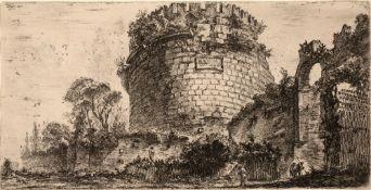 GIOVANNI BATTISTA PIRANESI 'Tombs of Caecilia Metella called the Capo di Bove', from 'Some views