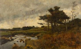 ADRIAN STOKES (1854-1935) Wild Forest, Castlewellan, Co. Down, signed and dated 1886, 37 x 60cm